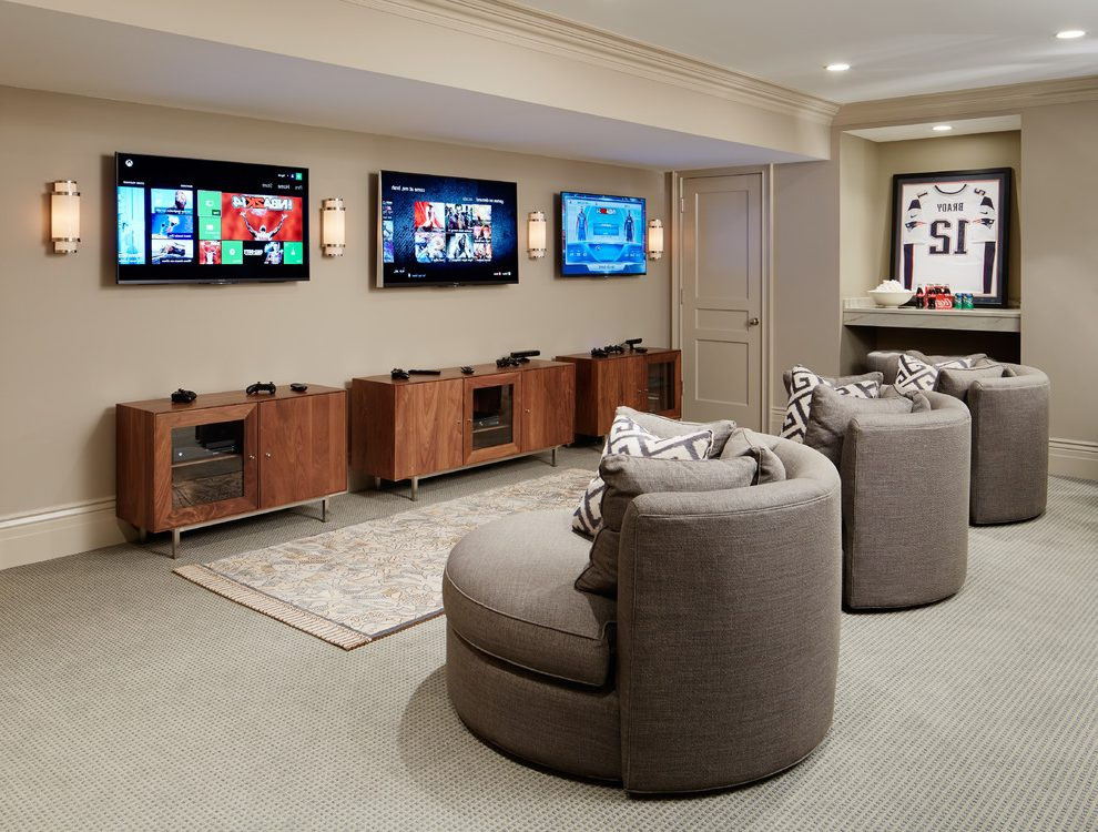 Best ideas about Game Room Seating . Save or Pin game room basement traditional with swivel chairs adhesive Now.