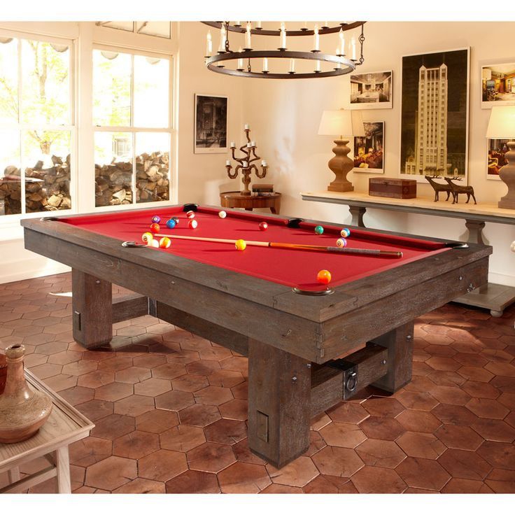 Best ideas about Game Room Table . Save or Pin Brunswick Merrimack Billiard Table Rustic Pool Table Now.