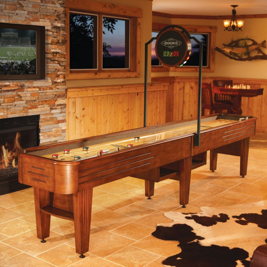Best ideas about Game Room Table . Save or Pin shuffle board in game room Now.