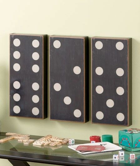 Best ideas about Game Room Wall Art . Save or Pin 3 Pc Country Dominoes Wall Art Set Game Room Decor Black Now.