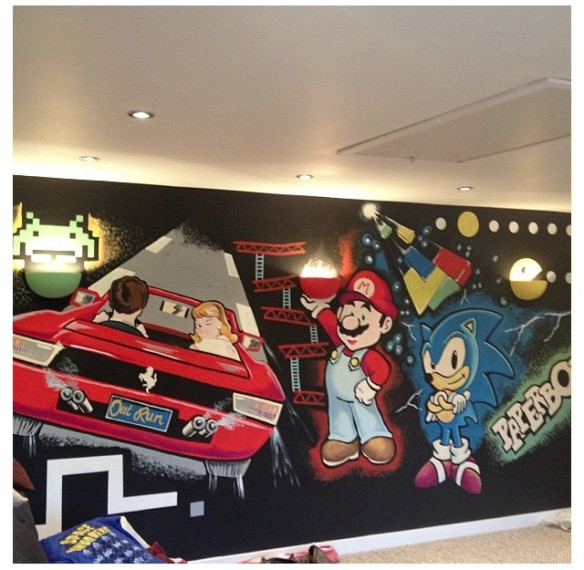 Best ideas about Game Room Wall Art . Save or Pin OutRun Gamesroom wall art Now.
