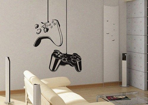 Best ideas about Game Room Wall Art . Save or Pin Game controller Modern Xbox Ps3 Games Kids Video Art Now.