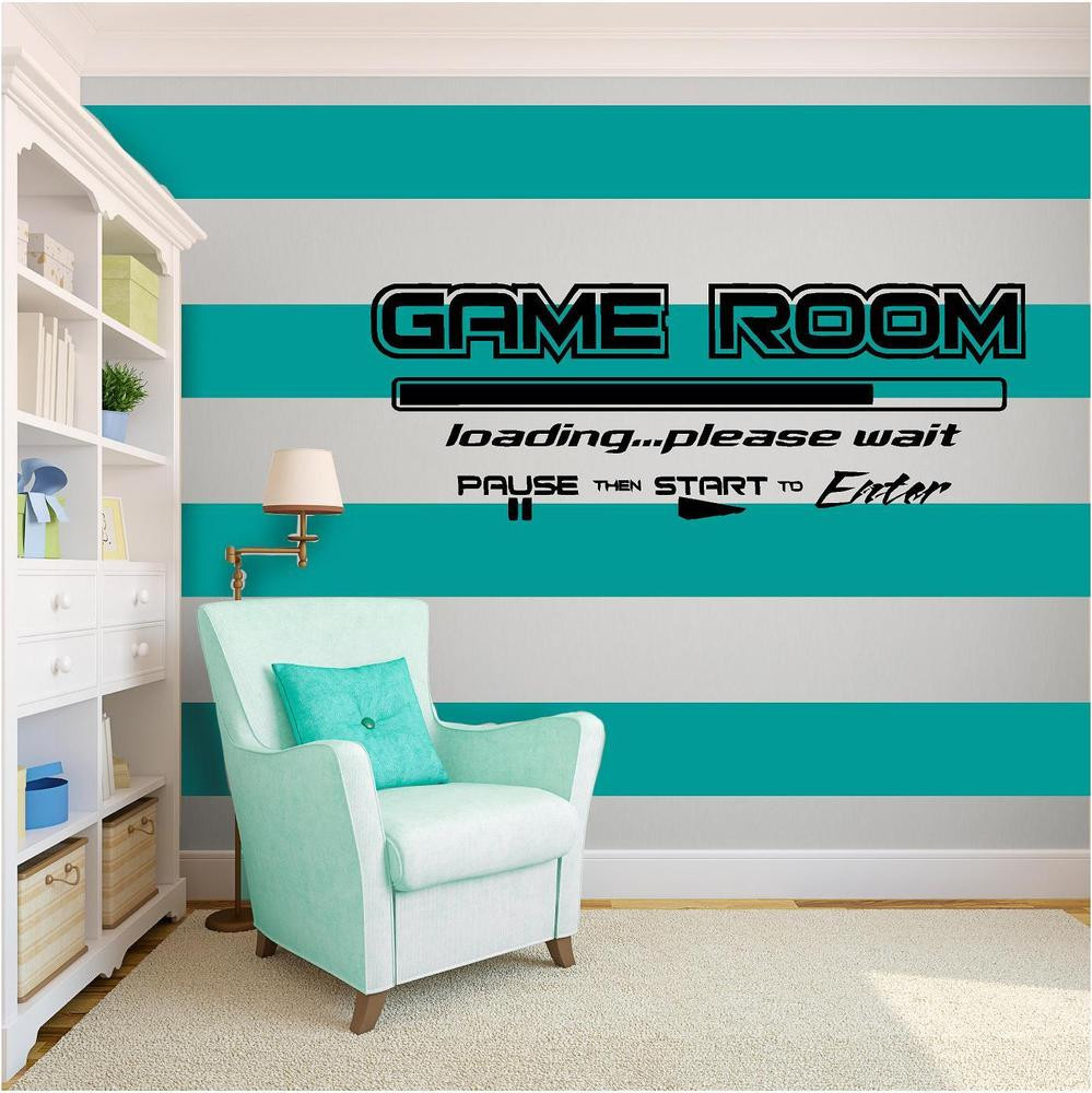 Best ideas about Game Room Wall Art . Save or Pin Game Room Vinyl Wall Art quote Home Decor Decal Words Now.