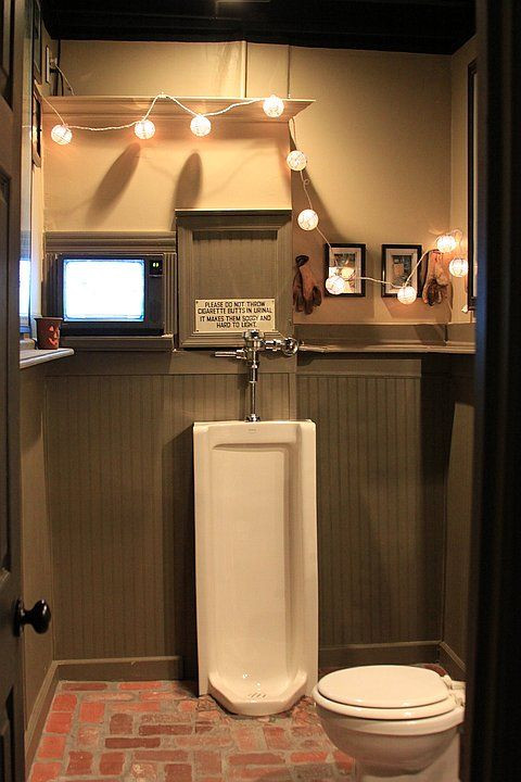 Best ideas about Garage Bathroom Ideas . Save or Pin man cave bathroom gotta have the urinal Now.