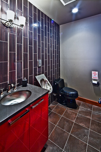 Best ideas about Garage Bathroom Ideas . Save or Pin MAN CAVE DREAM GARAGE Contemporary Bathroom Now.