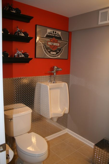 Best ideas about Garage Bathroom Ideas . Save or Pin harley toilet theme Cool stuff Pinterest Now.