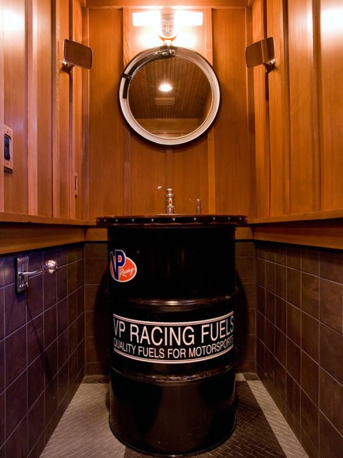Best ideas about Garage Bathroom Ideas . Save or Pin Man Cave Bathroom Home Design Ideas Remodel and Now.