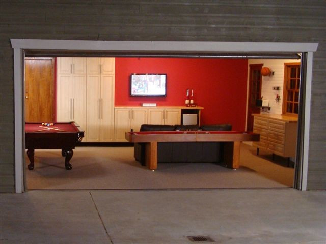 Best ideas about Garage Game Room . Save or Pin Deluxe Garage & Game Room Contemporary Garage And Shed Now.