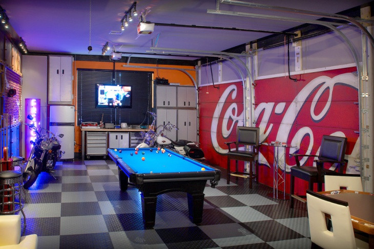 Best ideas about Garage Game Room . Save or Pin 20 Garage Flooring Tile Designs Ideas Now.