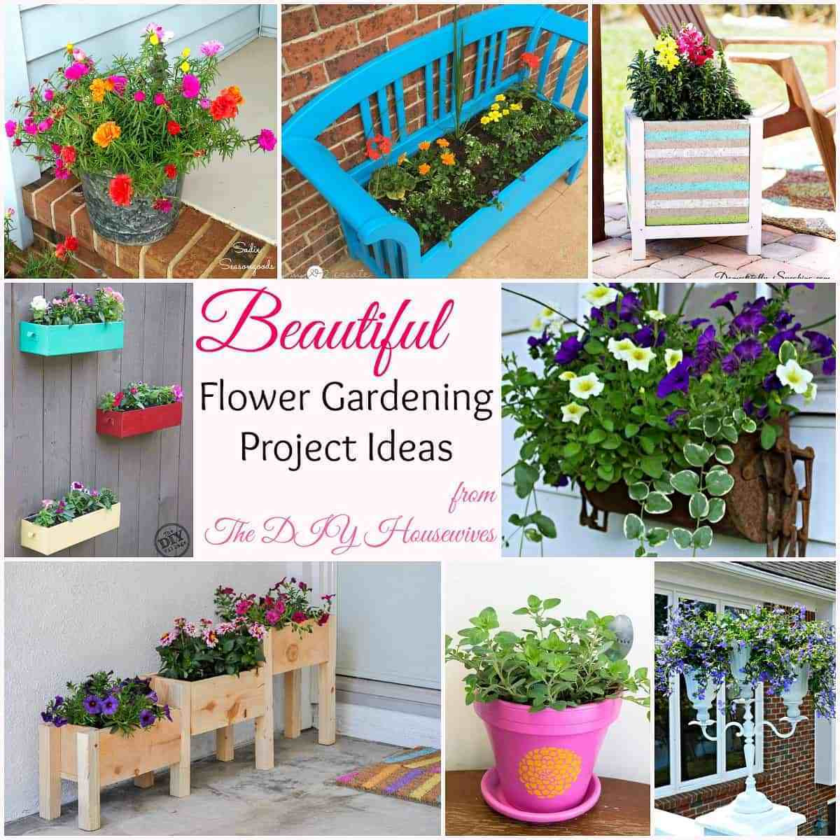 Best ideas about Garden Ideas Diy . Save or Pin DIY Flower Gardening Ideas and Planter Projects The DIY Now.