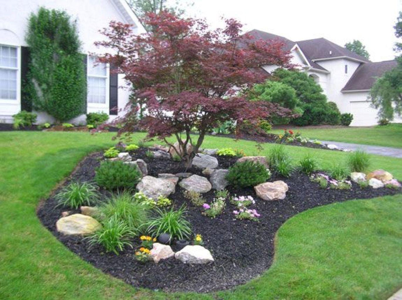 Best ideas about Garden Landscape Ideas . Save or Pin 54 Beautiful Front Yard Rock Garden Ideas Now.
