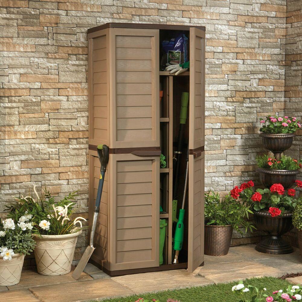 Best ideas about Garden Storage Cabinet . Save or Pin Garden Storage Box 540L Outdoor Waterproof 4 Shelf Plastic Now.