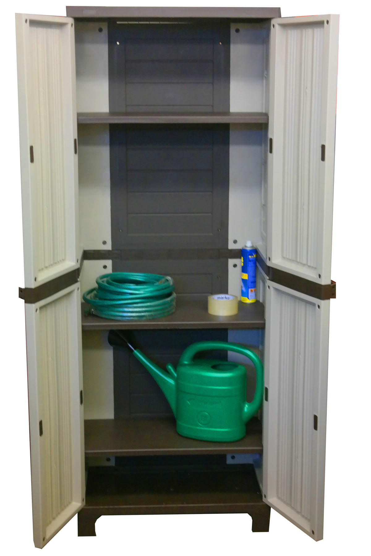 Best ideas about Garden Storage Cabinet . Save or Pin Tall Outdoor Plastic Storage Utility Cabinet Garden Now.