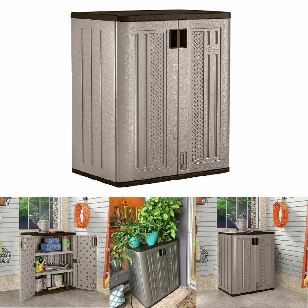 Best ideas about Garden Storage Cabinet . Save or Pin Small Outdoor Storage Cabinets Suncast Lawn Yard Patio Now.