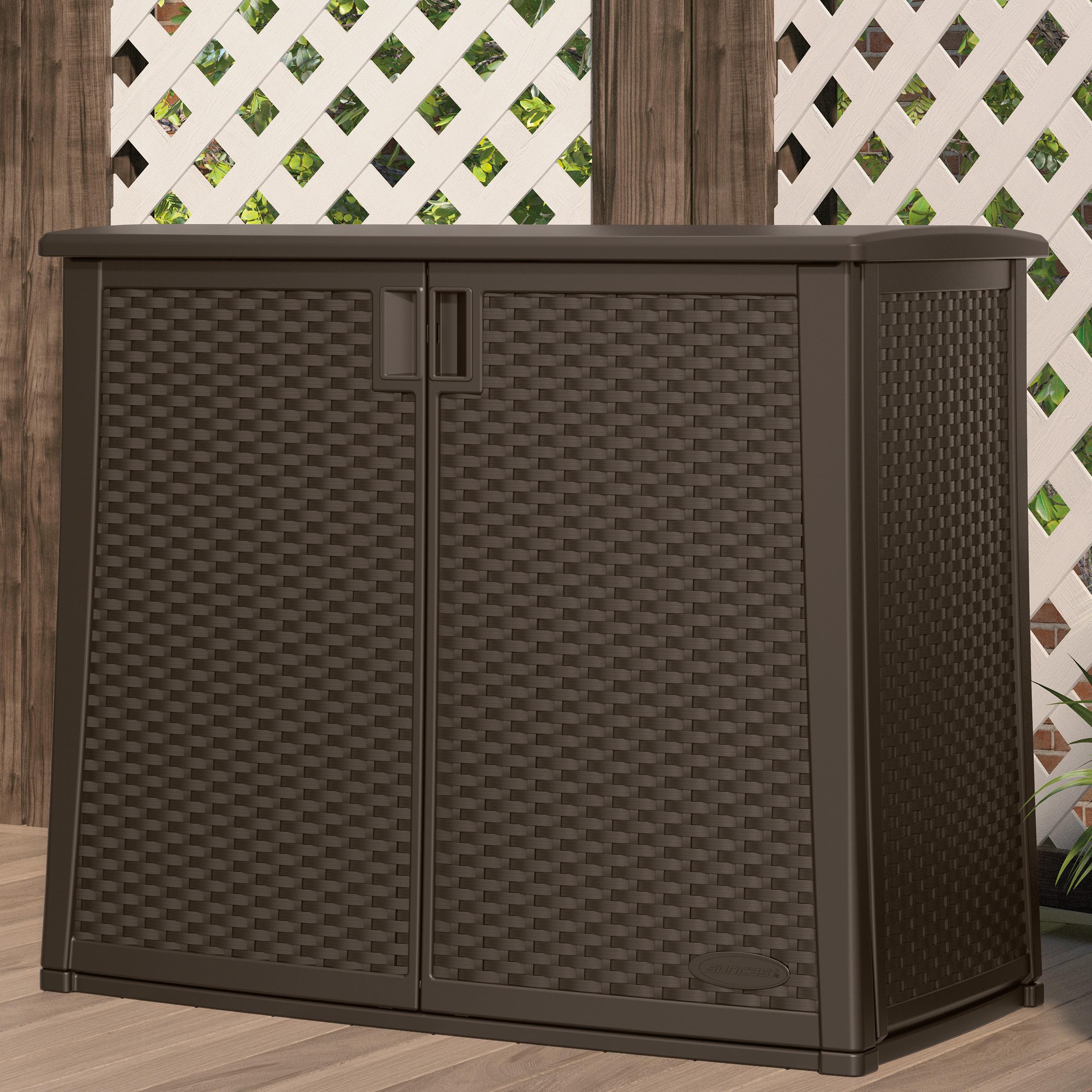 "Best ideas about Garden Storage Cabinet . Save or Pin Suncast 35 25"" H x 42 25"" W x 23"" D Outdoor Storage Now."