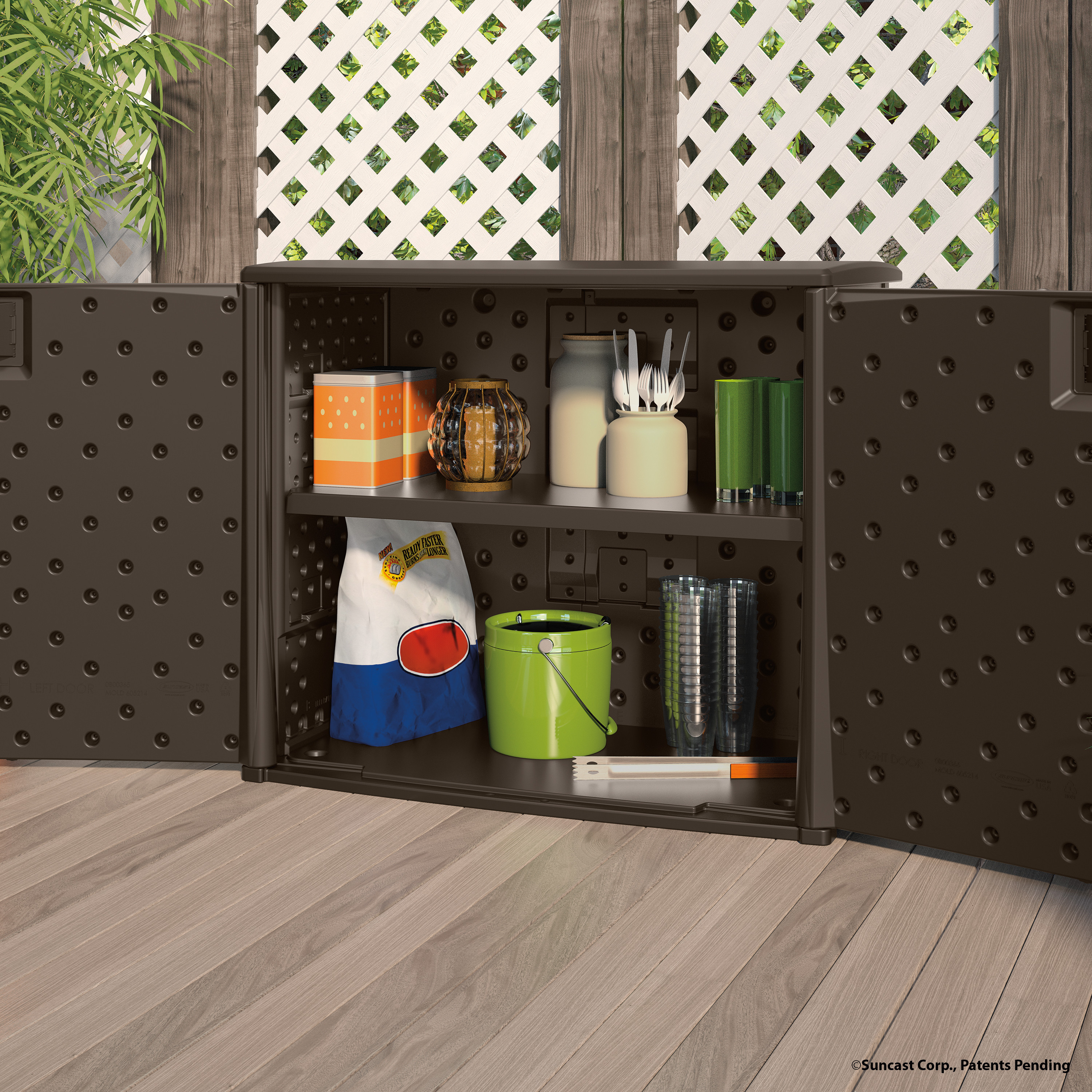 Best ideas about Garden Storage Cabinet . Save or Pin Suncast 97 Gallon Resin Storage Cabinet & Reviews Now.