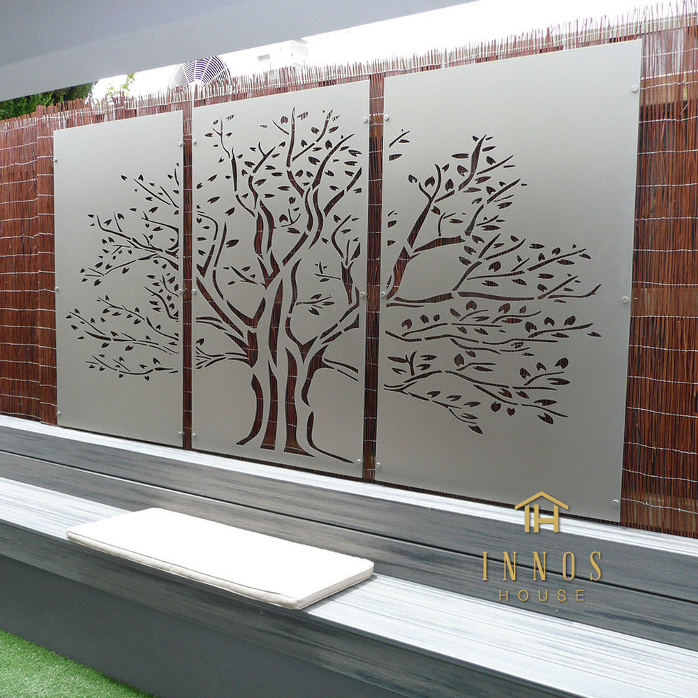 Best ideas about Garden Wall Art . Save or Pin Tree of Life Triptych DIY Decorative Screens Indoor Now.