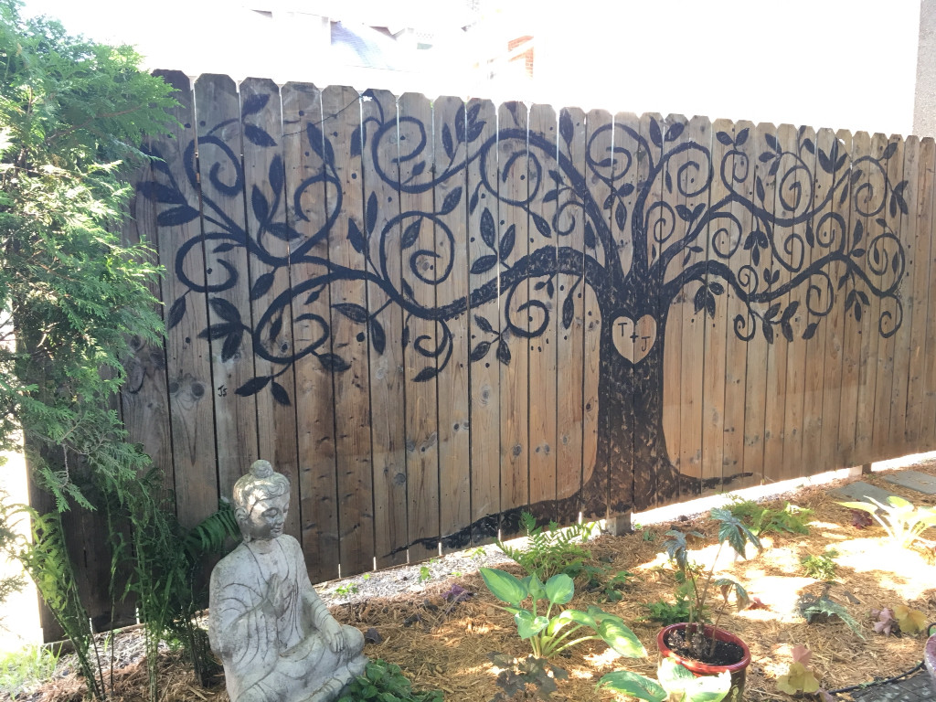 Best ideas about Garden Wall Artwork . Save or Pin 10 Ways to Spruce Your Outdoor Space With Paint Now.
