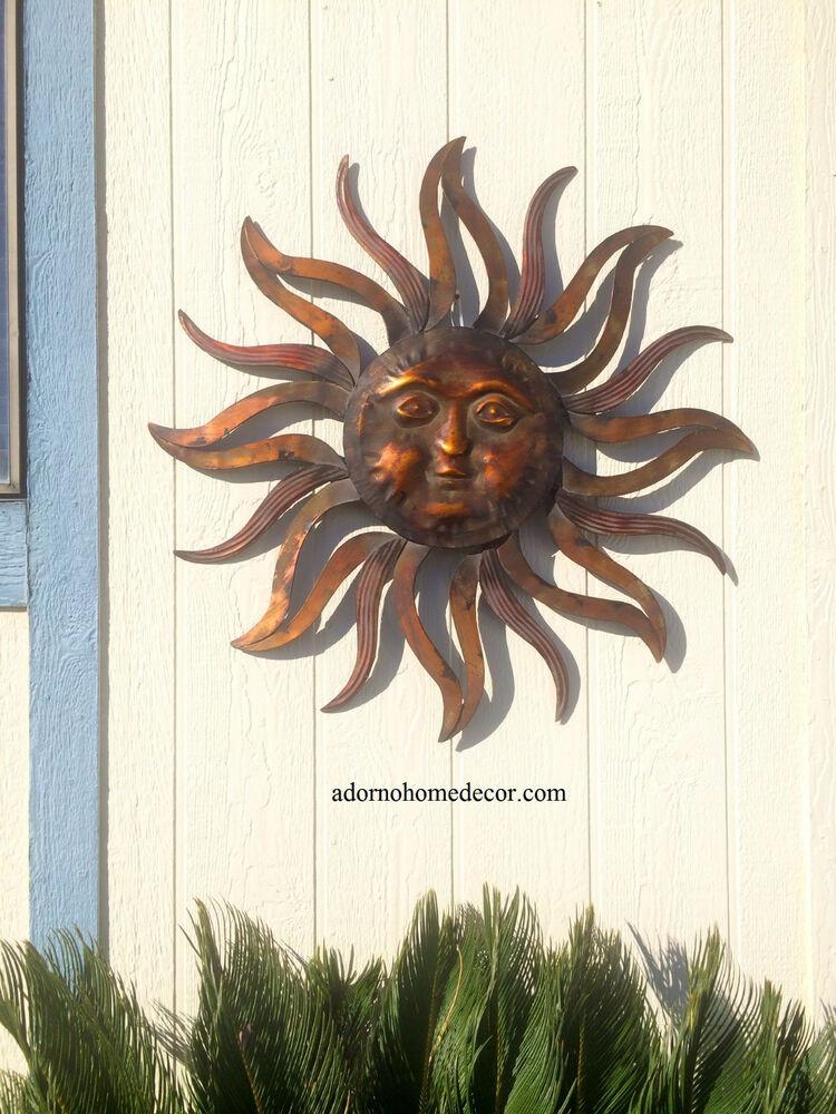 Best ideas about Garden Wall Artwork . Save or Pin Metal Sun Wall Decor Rustic Garden Art Indoor Now.