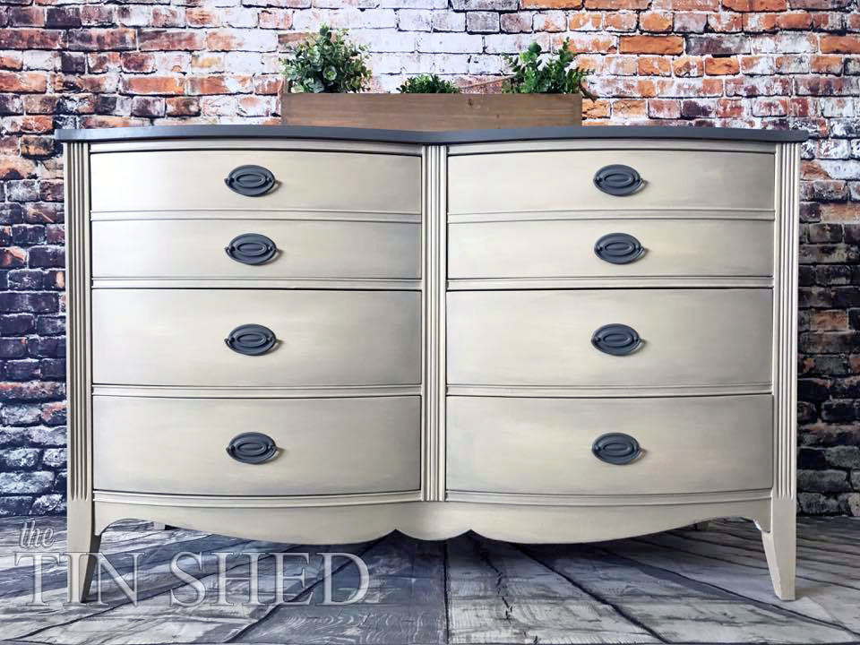 Best ideas about General Finishes Milk Paint Colors . Save or Pin Custom Mixed Neutral Dresser Now.