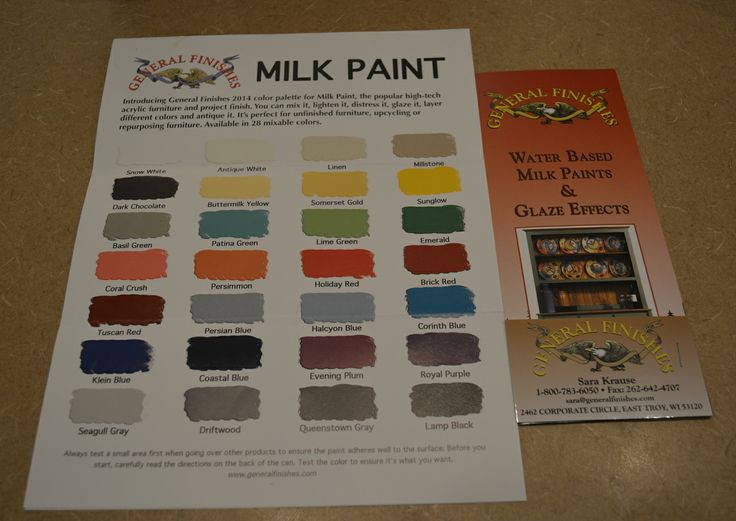 Best ideas about General Finishes Milk Paint Colors . Save or Pin General Finishes Water Based Milk Paints Color Chart Now.