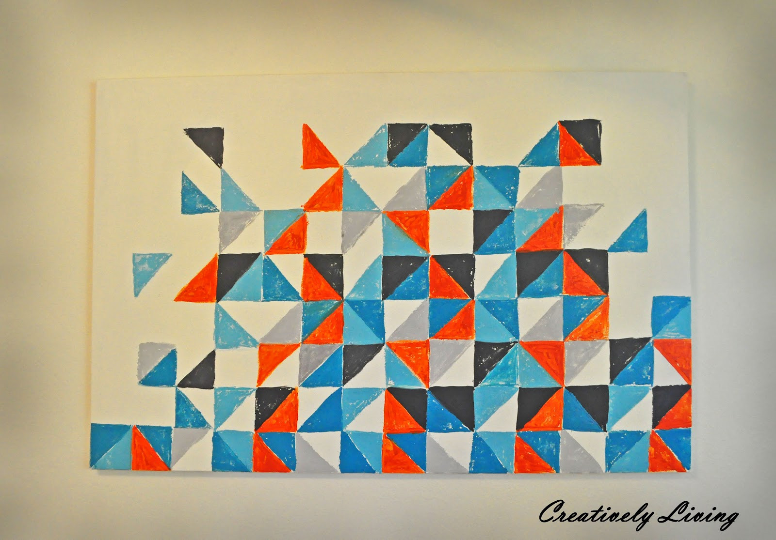 Best ideas about Geometric Wall Art . Save or Pin Square and Triangle Geometric Art Now.