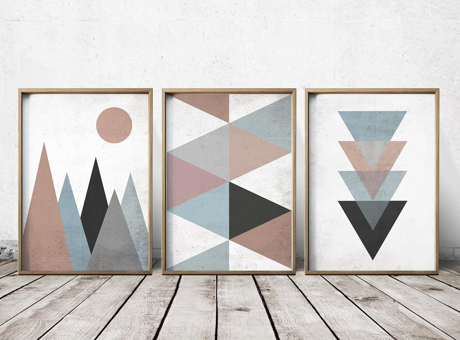 Best ideas about Geometric Wall Art . Save or Pin Wall Art Prints Abstract Art Prints Geometric Decor Now.