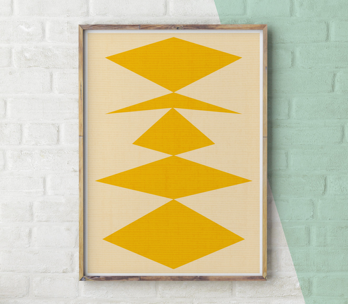 Best ideas about Geometric Wall Art . Save or Pin Geometric Print Yellow Decor Geometric Wall Art Modern Now.