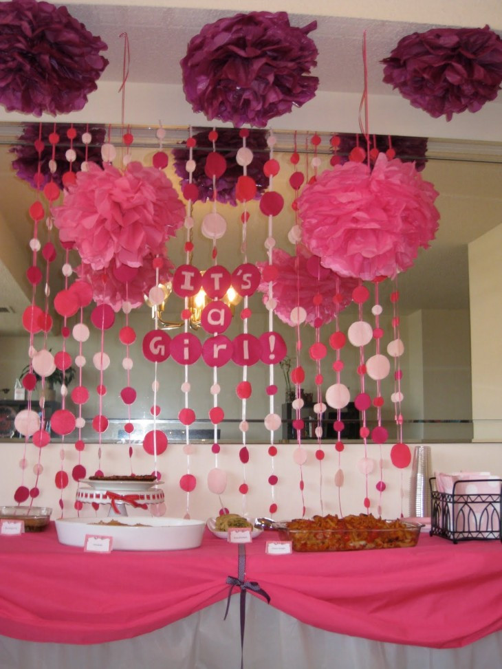 Best ideas about Girl Baby Shower Table Decorations . Save or Pin Baby Shower at Home Work or Restaurant Now.