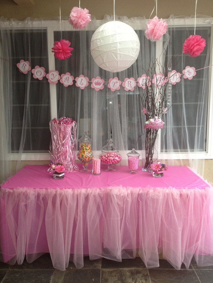 Best ideas about Girl Baby Shower Table Decorations . Save or Pin Princess Theme Baby Shower Royal Treats Table Now.