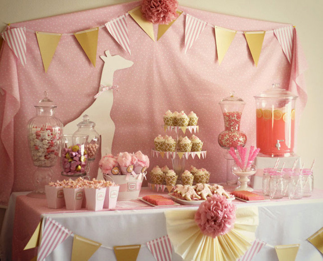 Best ideas about Girl Baby Shower Table Decorations . Save or Pin Baby Girl Shower Decorations Now.