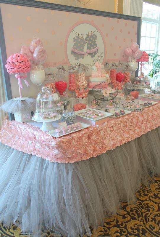 Best ideas about Girl Baby Shower Table Decorations . Save or Pin Tutu Cute Baby Shower Party Ideas Now.