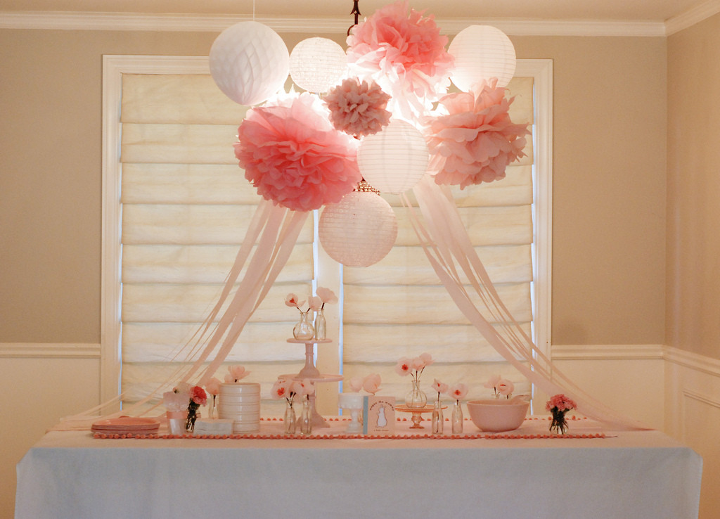"Best ideas about Girl Baby Shower Table Decorations . Save or Pin Fawn Over Baby ""Pat The Bunny"" Baby Shower Now."