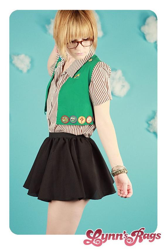 Best ideas about Girl Scout Costume DIY . Save or Pin Diy Handmade GIRL SCOUT Uniform Costume Halloween by lynnsrags Now.