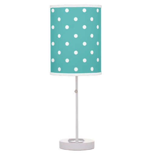 Best ideas about Girls Desk Lamp . Save or Pin Teal Polka Dots Girls Room Decor Table Lamp Now.