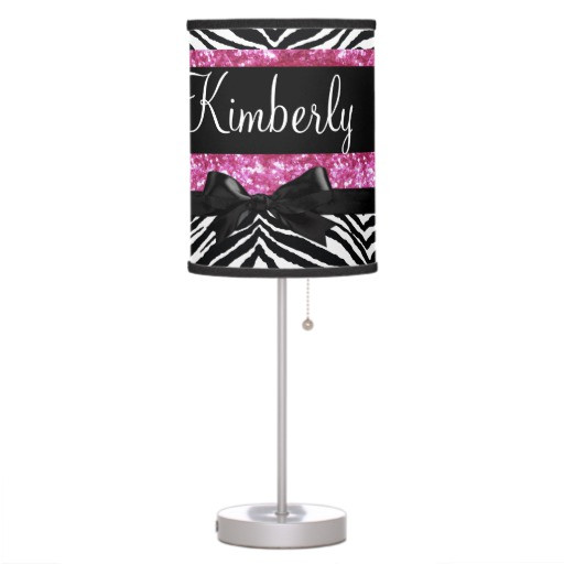 Best ideas about Girls Desk Lamp . Save or Pin Hot Pink Sparkle Zebra Girly Girl s Desk Lamp Now.