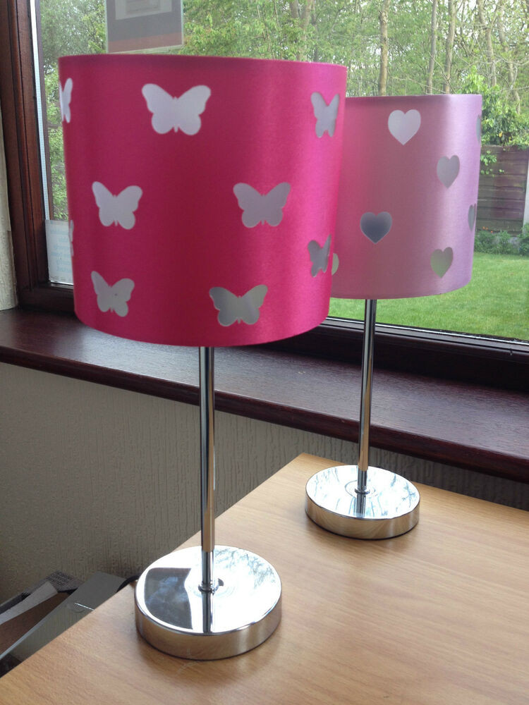 Best ideas about Girls Desk Lamp . Save or Pin PINK GIRLS ROOM TABLE LAMP BUTTERFLY HEART LAMP GIRLS BED Now.