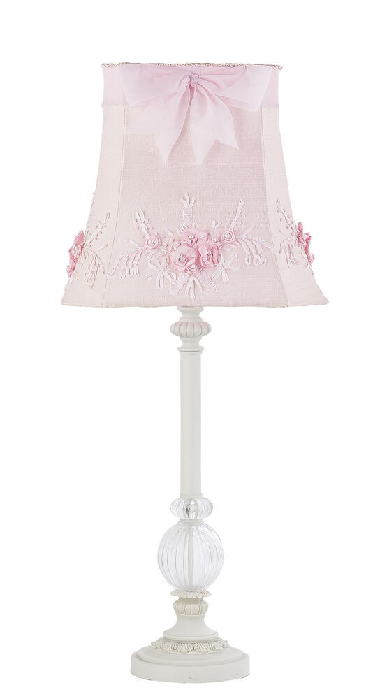 Best ideas about Girls Desk Lamp . Save or Pin Kids Girls White Table Lamp Glass Pink Shade Nursery Now.