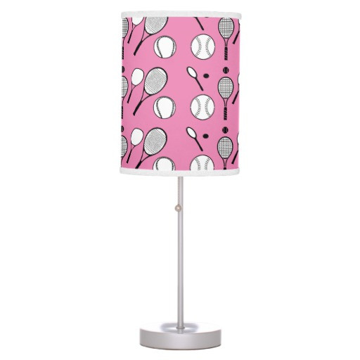 Best ideas about Girls Desk Lamp . Save or Pin Tennis pink black white girls table lamp Now.