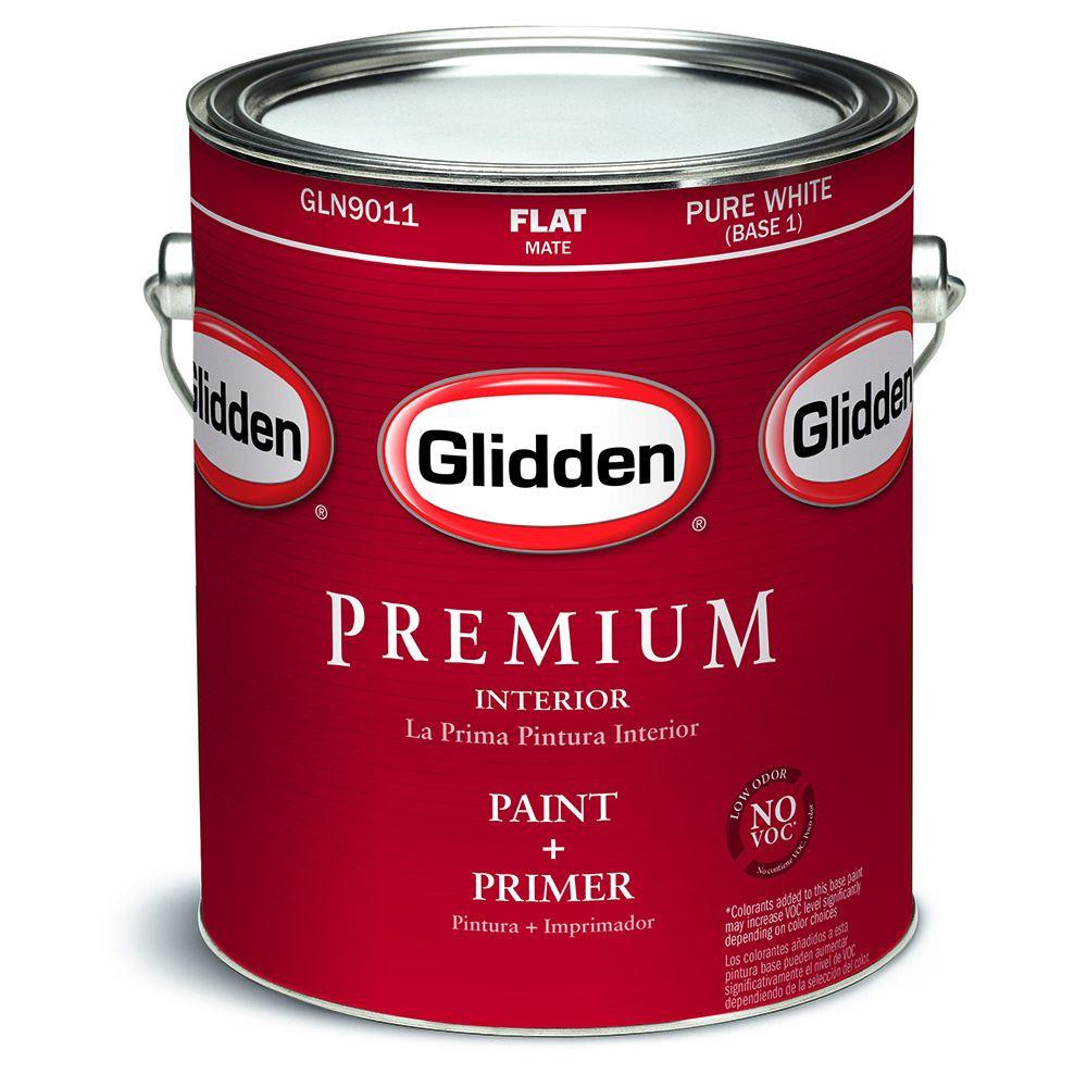 Best ideas about Glidden Paint Colors . Save or Pin Glidden Premium 1 gal Pure White Flat Interior Paint Now.