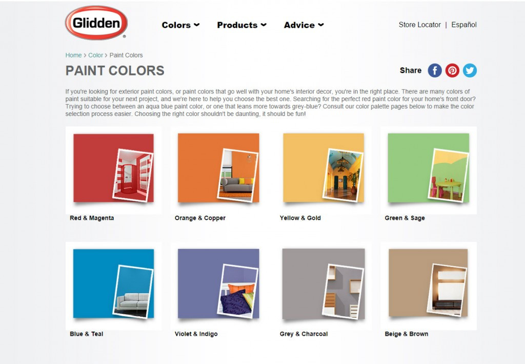 Best ideas about Glidden Paint Colors . Save or Pin How To Pick A Paint Color For Furniture Stacy Risenmay Now.