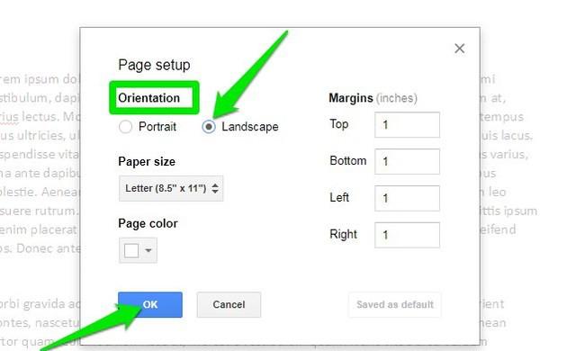 Best ideas about Google Docs Landscape . Save or Pin How To Change Page Orientation Google Docs To Landscape Now.
