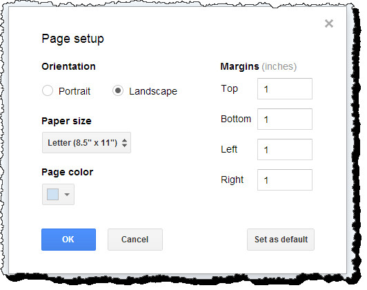 Best ideas about Google Docs Landscape . Save or Pin Make a single page landscape in Google Documents Web Now.
