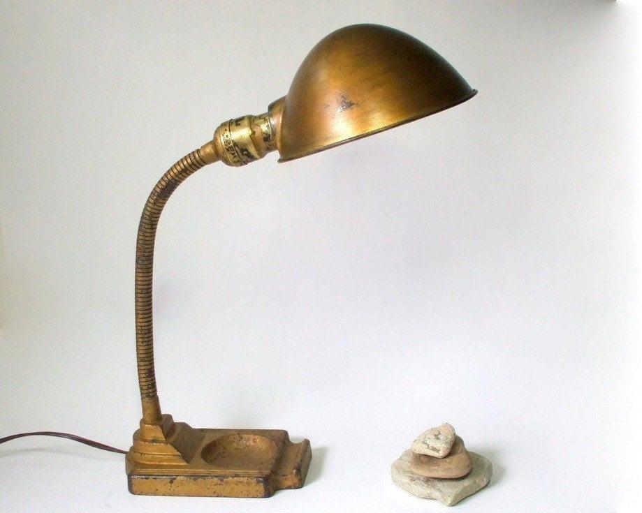 Best ideas about Gooseneck Desk Lamp . Save or Pin Antique Gooseneck Desk Lamp with Deco Base Now.
