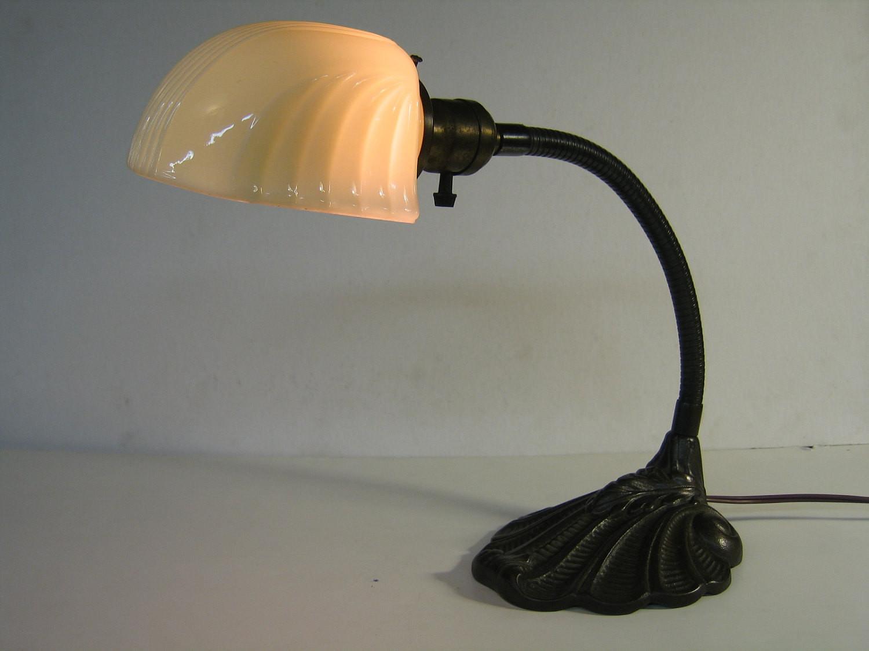 Best ideas about Gooseneck Desk Lamp . Save or Pin Vintage Shell Design Iron Gooseneck Desk Lamp with Vintage Now.