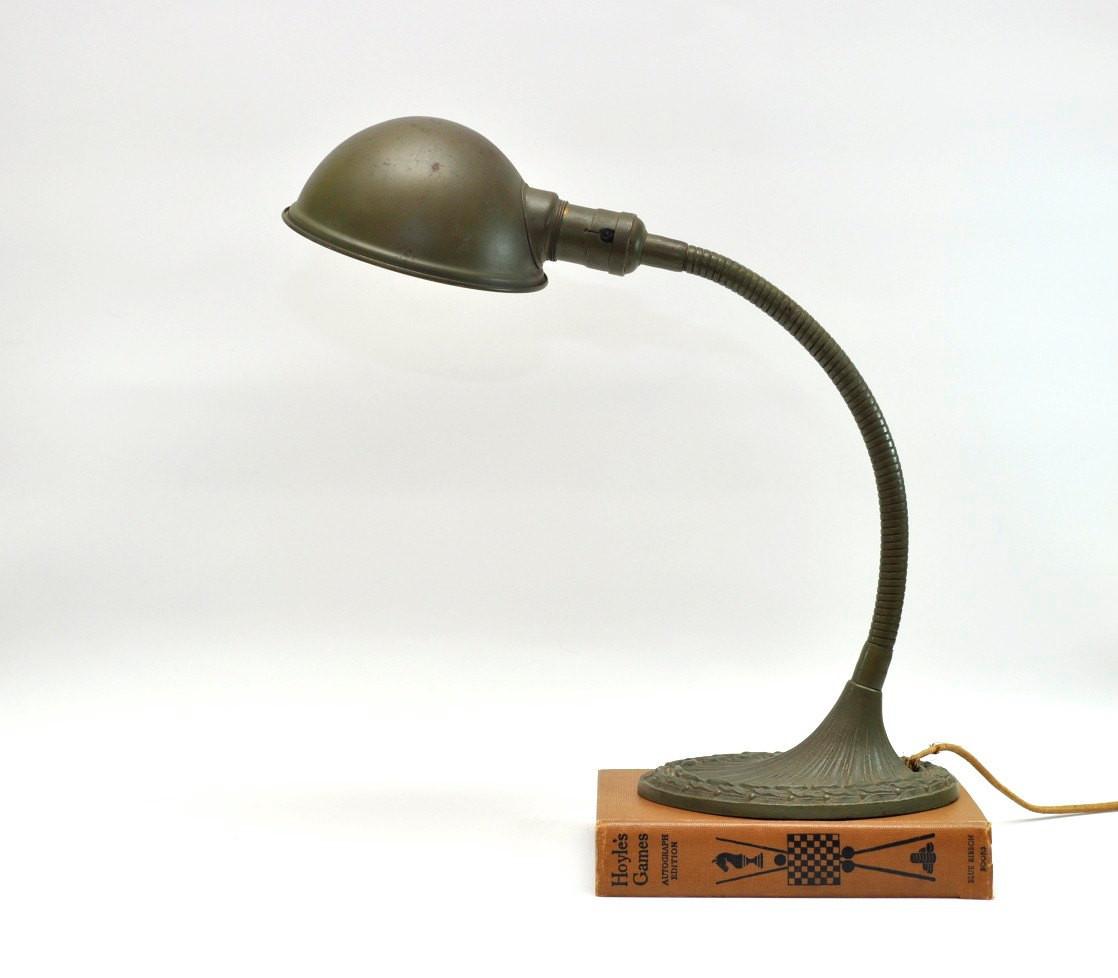 Best ideas about Gooseneck Desk Lamp . Save or Pin Vintage Desk Lamp Metal Gooseneck Art Deco by Now.