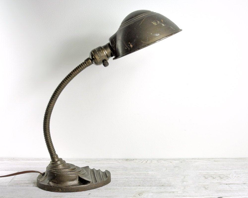Best ideas about Gooseneck Desk Lamp . Save or Pin Vintage Gooseneck Desk Lamp Industrial Lighting by Now.