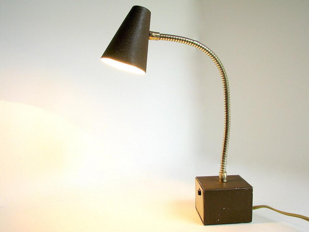 Best ideas about Gooseneck Desk Lamp . Save or Pin Brown Desk Lamp Vintage Gooseneck Diax Light Now.