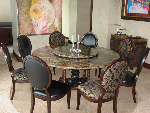 Best ideas about Granite Dining Table . Save or Pin Custom made natural stone table Modern Dining Room Now.