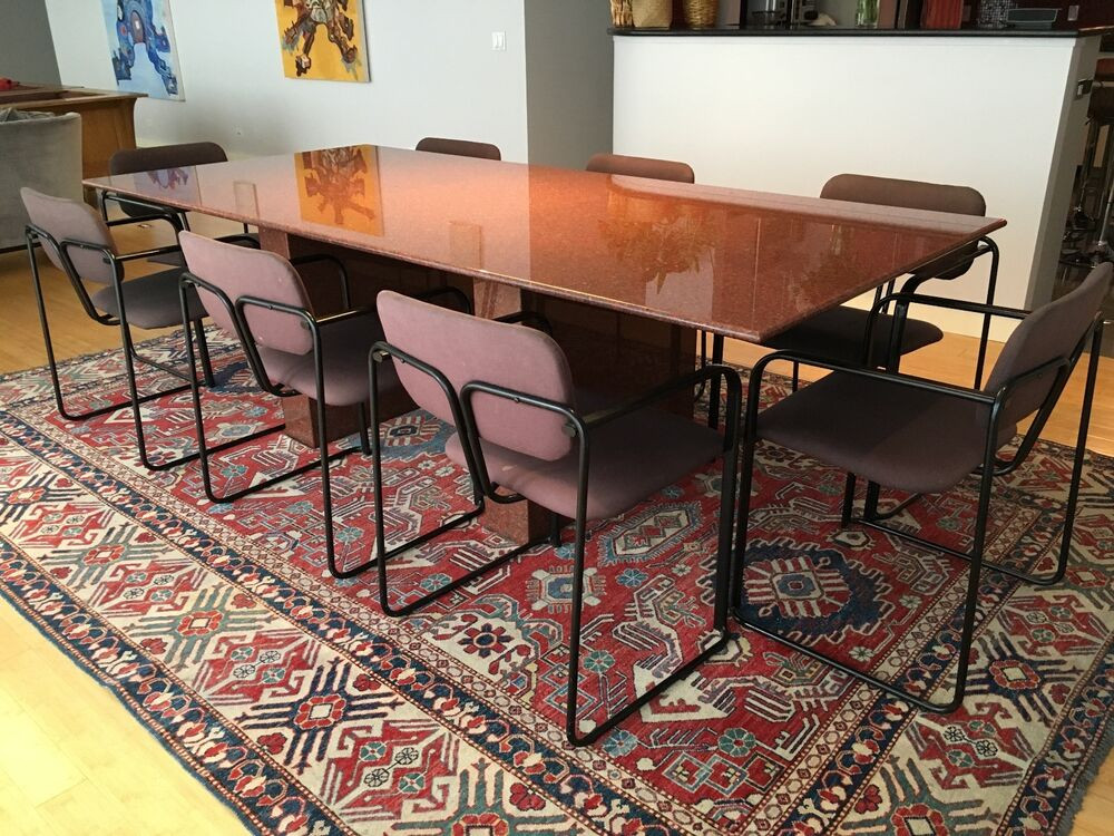 Best ideas about Granite Dining Table . Save or Pin Custom made granite top dining room table 38x97 with 8 Now.